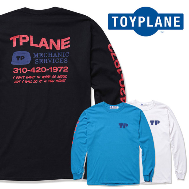 TOYPLANE(トイプレーン) L/S CALL ME TEE 【2019 2nd新作】【TP19-NTE09】【ロングスリーブ 長袖 Tシャツ】