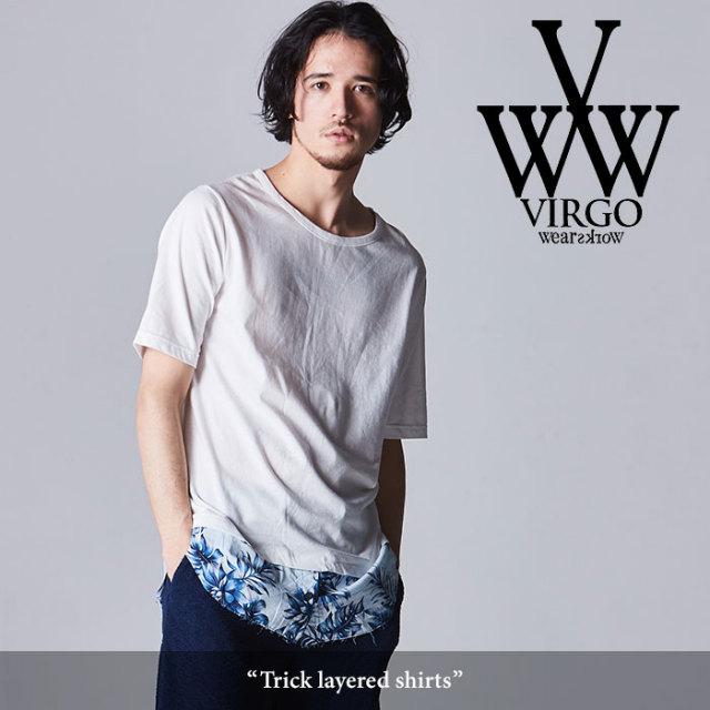 VIRGO(ヴァルゴ) Trick layered shirts 【2018SPRING/SUMMER先行予約】 【送料無料】【キャンセル不可】 【VG-CUT-366】
