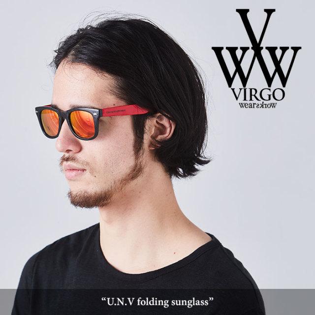VIRGO(ヴァルゴ) U.N.V folding sunglass 【2018SPRING/SUMMER先行予約】 【キャンセル不可】 【VG-GD-554】