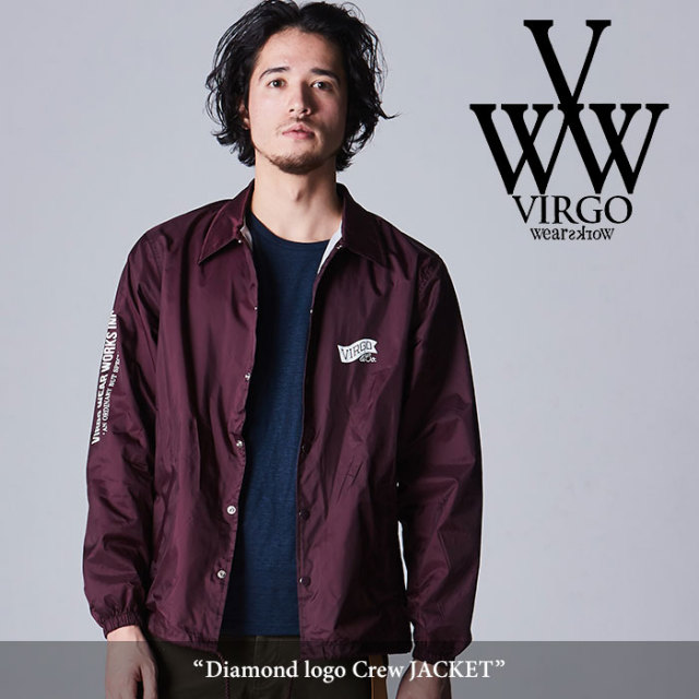 VIRGO(ヴァルゴ) Diamond logo Crew jacket 【2018SPRING/SUMMER先行予約】 【送料無料】【キャンセル不可】 【VG-JKT-188】