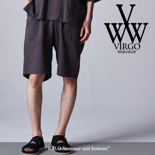 【SALE30%OFF】 VIRGO(ヴァルゴ) E.D.O Summer suit bottom 【2018SPRING/SUMMER新作】【VG-PT-291】