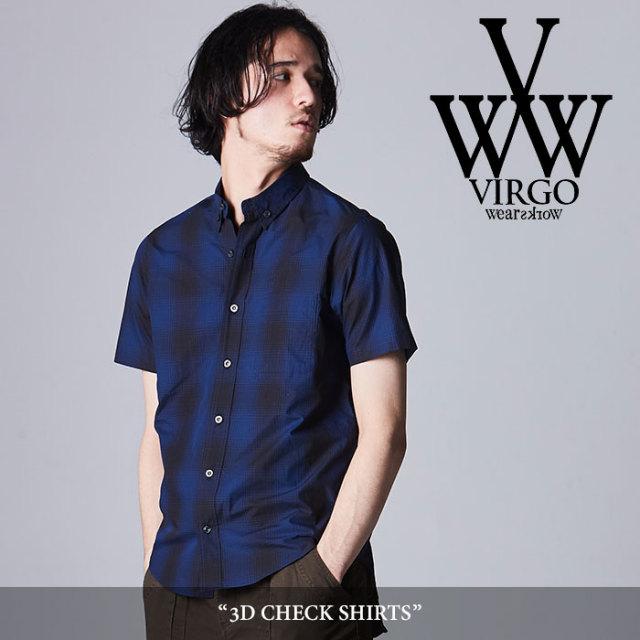 VIRGO(ヴァルゴ) 3D check shirt 【2018SPRING/SUMMER先行予約】 【送料無料】【キャンセル不可】 【VG-SH-184】