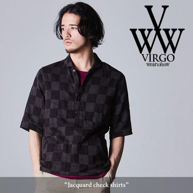 VIRGO(ヴァルゴ) Jacquard check shirt 【2018SPRING/SUMMER先行予約】 【送料無料】【キャンセル不可】 【VG-SH-187】