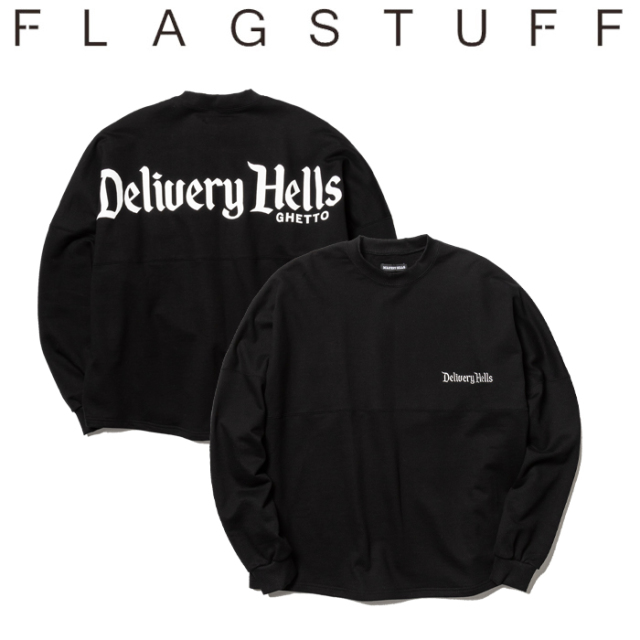 "F-LAGSTUF-F(フラグスタフ) ""GHETTO"" L/S SWEAT 【送料無料】【19AW-DH-03】 【F-LAGSTUF-F】【FLAGSTUFF】【Delivery Hells】"