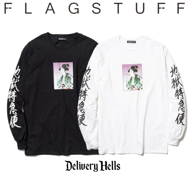"F-LAGSTUF-F(フラグスタフ) ""地獄特急便""L/S Tee 【送料無料】【19AW-DH-13】 【F-LAGSTUF-F】【FLAGSTUFF】【Delivery Hells】"