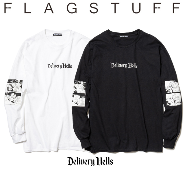 "F-LAGSTUF-F(フラグスタフ) ""Four flame""L/S Tee 【送料無料】【19AW-DH-15】 【F-LAGSTUF-F】【FLAGSTUFF】【Delivery Hells】"