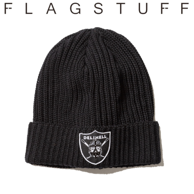F-LAGSTUF-F(フラグスタフ) Team KNIT CAP 【19AW-DH-26】 【F-LAGSTUF-F】【FLAGSTUFF】【Delivery Hells】 【フラグスタフ】【