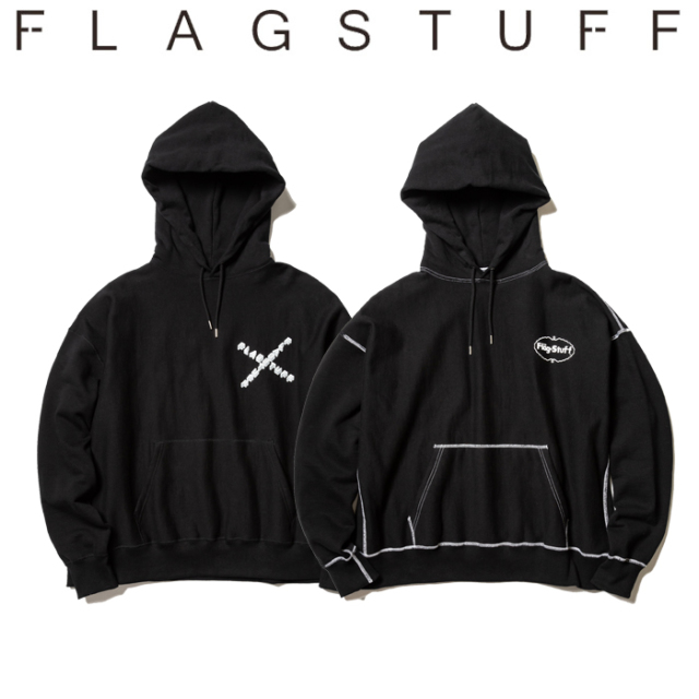 F-LAGSTUF-F(フラグスタフ) Flat seam HEAVY HOODIE 【パーカー スウェット】【送料無料】【19AW-FS-22】 【F-LAGSTUF-F】【FLAGS