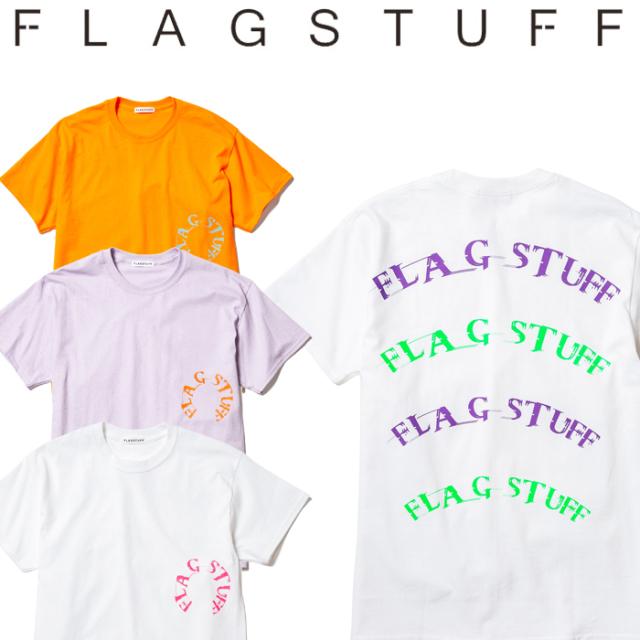 """F-LAGSTUF-F(フラグスタフ) """"Semi circle LOGO"""" Tee 【19AW-FS-57】 【F-LAGSTUF-F】【FLAGSTUFF】 【フラグスタフ】【フラッグ"""
