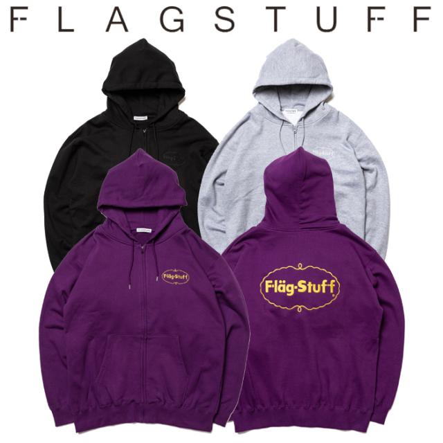 "F-LAGSTUF-F(フラグスタフ) ""ICE LOGO"" ZIP HOODIE 【ジップパーカー スウェット】【送料無料】【19AW-SPOT-FS-05】 【F-LAGSTUF-"