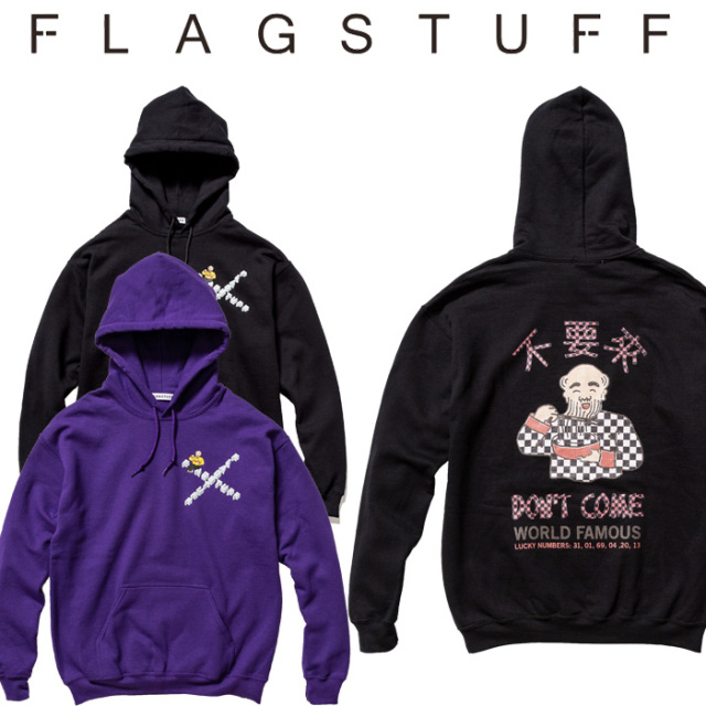 F-LAGSTUF-F(フラグスタフ)×Don't Come HOODIE 【5th Anniversary item】 【F-LAGSTUF-F】【フラグスタフ】【フラッグスタッフ】