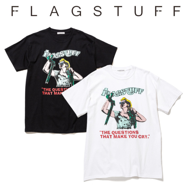 "【SALE30%OFF】 F-LAGSTUF-F(フラグスタフ) ""QUESTIONS"" Tee  【セール】【2019 SPRING&SUMMER COLLECTION】 【F-LAGSTUF-F】【"