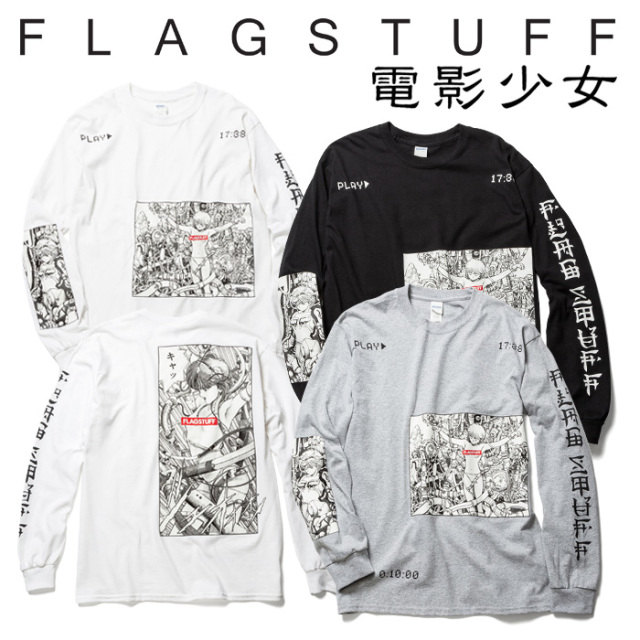 "F-LAGSTUF-F(フラグスタフ) ""PLAY"" L/S Tee 【VIDEOGIRL】【電影少女】 【送料無料】【19SS-FS×VG-03】 【F-LAGSTUF-F】【FLAGST"