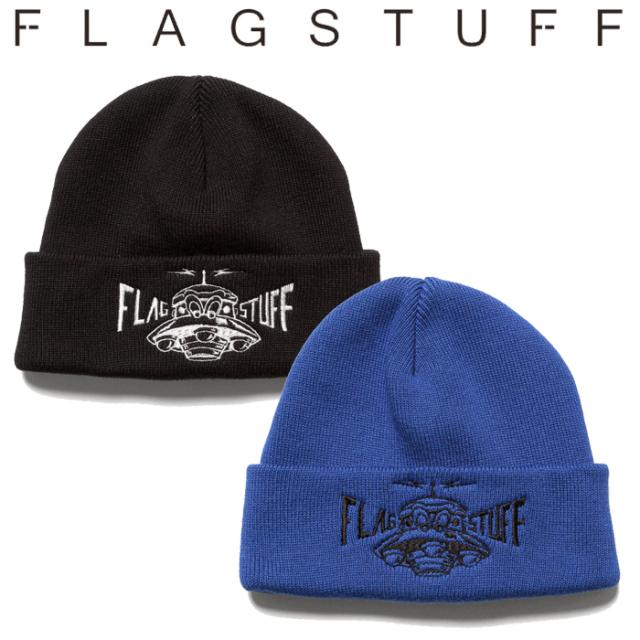 "F-LAGSTUF-F(フラグスタフ) ""UFO"" KNIT CAP 【ニットキャップ 帽子】【20AW-FS-100】【F-LAGSTUF-F】【FLAGSTUFF】【フラグスタフ"