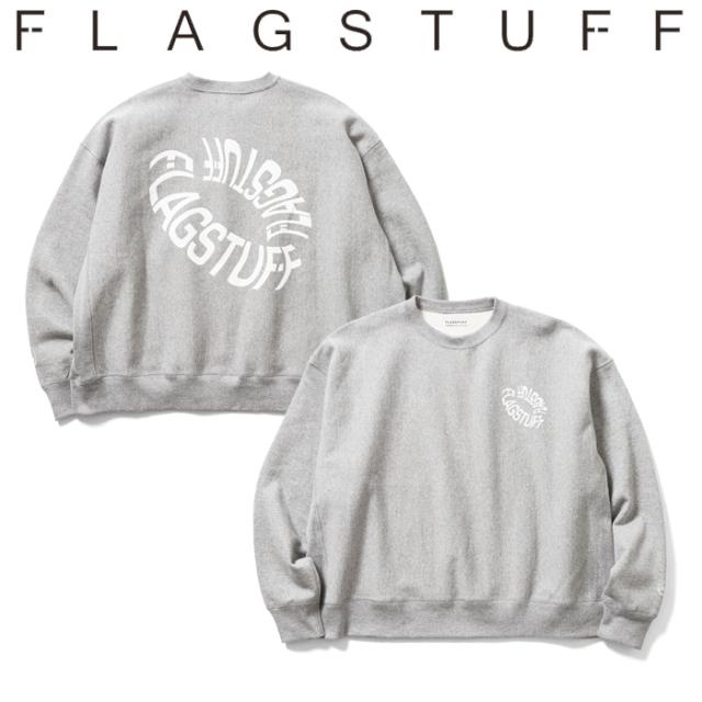 """F-LAGSTUF-F フラグスタフ スウェット """"DONUTS LOGO"""" Flat seam HEAVY SWEAT 【クルーネックスウェット】【20AW-FS-38】 【F-LAGS"""
