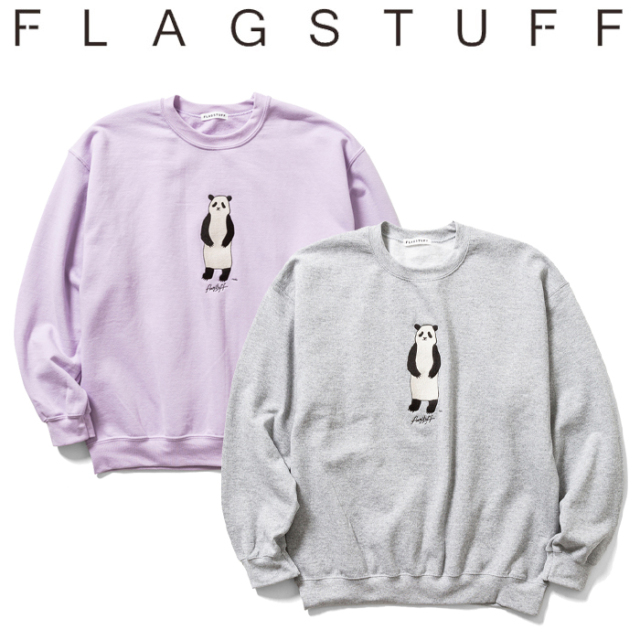 "F-LAGSTUF-F フラグスタフ ""PANDA"" SWEAT 【クルーネック スウェット】【20AW-FS×NOKO-02】【NOKO コラボレーション】 【F-LAGSTU"