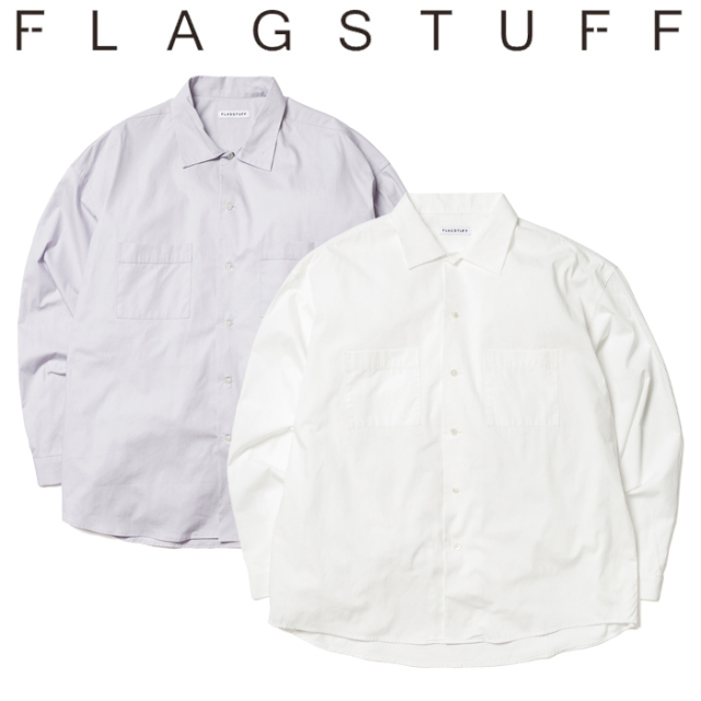 F-LAGSTUF-F(フラグスタフ) BIG L/S SHIRTS 【シャツ 長袖 ビッグシルエット】【20SS-FS-30】 【F-LAGSTUF-F】【FLAGSTUFF】【フ