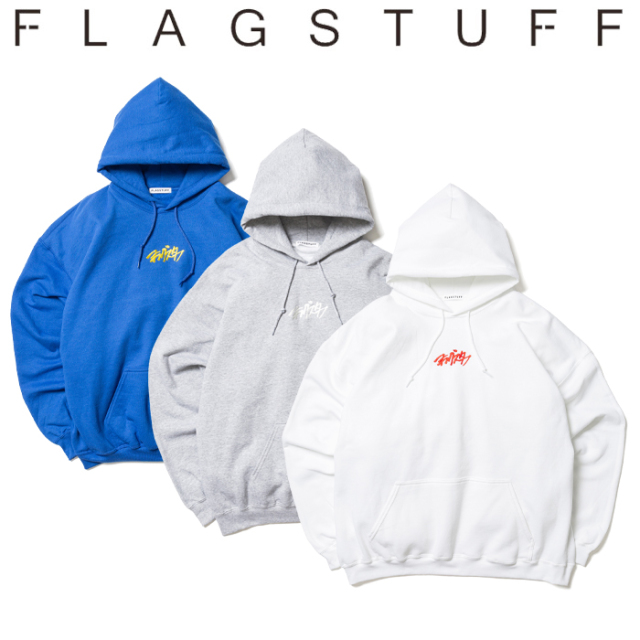 "F-LAGSTUF-F(フラグスタフ) ""KATAKANA"" HOODIE 【パーカー スウェット カタカナ ロゴ】【送料無料】【20SS-FS-46】 【F-LAGSTUF-F"