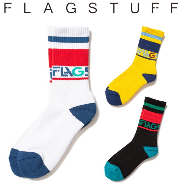 "F-LAGSTUF-F(フラグスタフ) ""Left Alone"" LOGO SOX 【ソックス 靴下】【20SS-FS-82】 【F-LAGSTUF-F】【FLAGSTUFF】【フラグスタ"