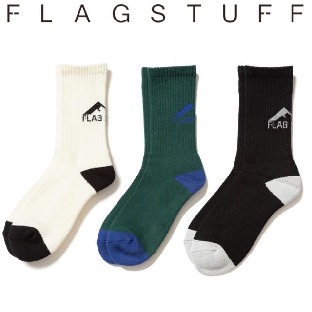 F-LAGSTUF-F(フラグスタフ) WF LOGO SOX  【ソックス 靴下】【20SS-FS-83】 【F-LAGSTUF-F】【FLAGSTUFF】【フラグスタフ】【フラ