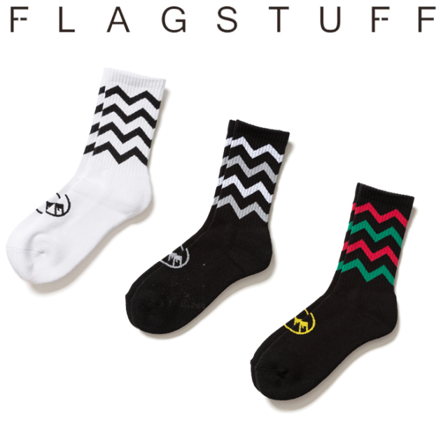 F-LAGSTUF-F(フラグスタフ) ZIG-ZAG SOX 【ソックス 靴下】【20SS-FS-84】 【F-LAGSTUF-F】【FLAGSTUFF】【フラグスタフ】【フラ