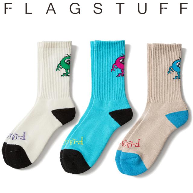 "F-LAGSTUF-F(フラグスタフ) ""MONSTER"" SOX 【ソックス 靴下】【20SS-SPOT-FS-17】 【F-LAGSTUF-F】【FLAGSTUFF】【フラグスタフ】"