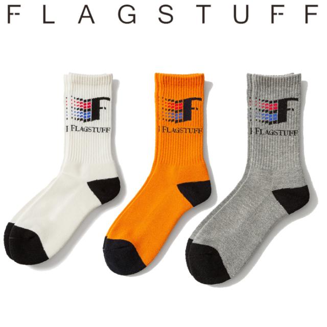"F-LAGSTUF-F(フラグスタフ) ""93"" LOGO SOX 【ソックス 靴下】【20SS-SPOT-FS-18】 【F-LAGSTUF-F】【FLAGSTUFF】【フラグスタフ】"