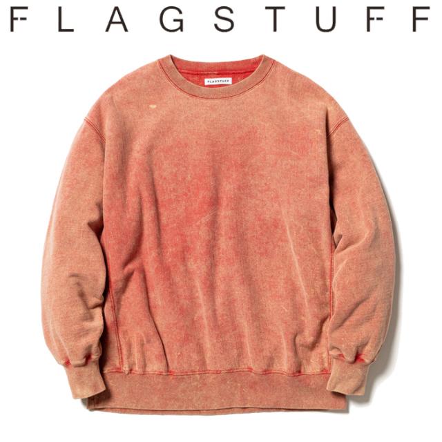 F-LAGSTUF-F(フラグスタフ)  CHEMICAL WASH SWEAT 【ケミカルウォッシュ スウェット 長袖】【21AW-FS-27】【F-LAGSTUF-F FLAGSTUFF