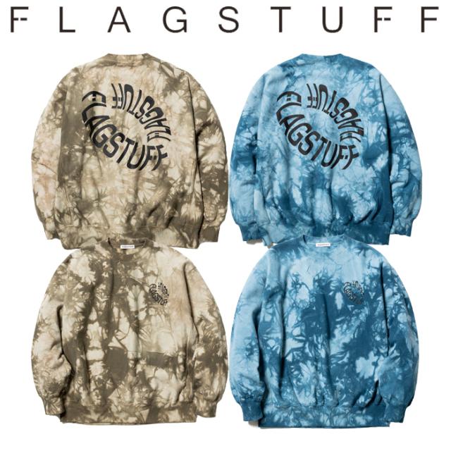 """F-LAGSTUF-F(フラグスタフ) """"TIE DYE"""" SWEAT 【タイダイ スウェット 長袖】【21AW-FS-30】【F-LAGSTUF-F FLAGSTUFF】 【フラグス"""
