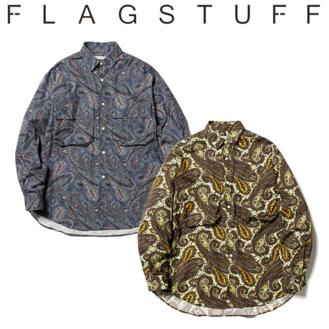 F-LAGSTUF-F(フラグスタフ) PAISLEY L/S SHIRTS 【長袖シャツ ペイズリー】【21AW-FS-39】【F-LAGSTUF-F】【FLAGSTUFF】【フラッグ