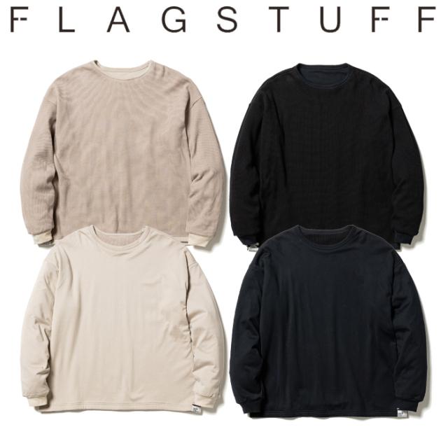F-LAGSTUF-F(フラグスタフ) REVERSIBLE L/S TEE 【リバーシブル ロンT Tシャツ 長袖】【21AW-FS-40】【F-LAGSTUF-F】【FLAGSTUFF】