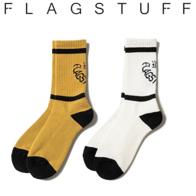F-LAGSTUF-F(フラグスタフ) LINE DONUTS SOX 【ソックス 靴下】【21AW-FS-80】【FLAGSTUFF フラグスタフ フラッグスタッフ】