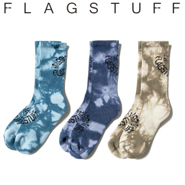 "F-LAGSTUF-F(フラグスタフ) ""TIE DYE"" SOX 【タイダイ ソックス 靴下】【21AW-FS-84】【FLAGSTUFF フラグスタフ フラッグスタッフ"