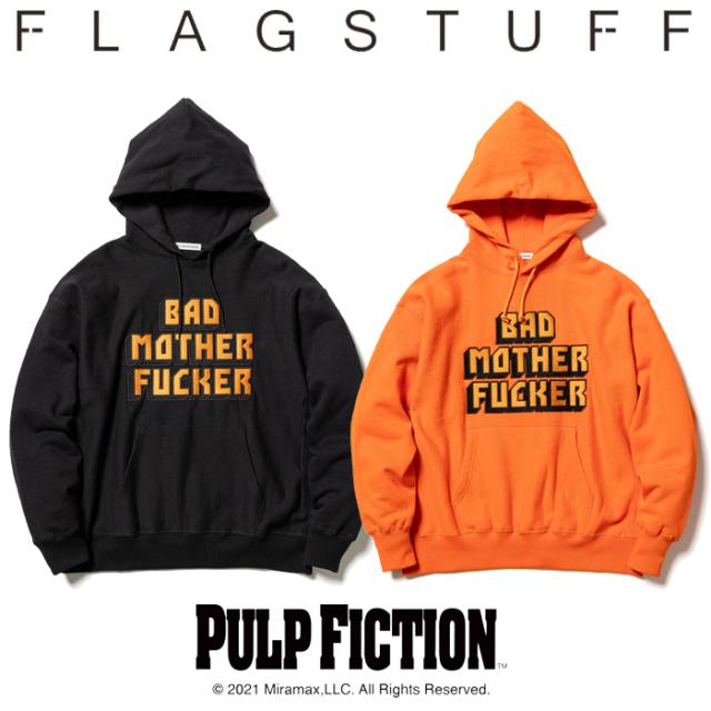 """F-LAGSTUF-F (フラグスタフ) × PULP FICTION (パルプ フィクション)  """"BMF"""" HOODIE 【パーカー フーディー 長袖】【21AW-FSxPF-01"""