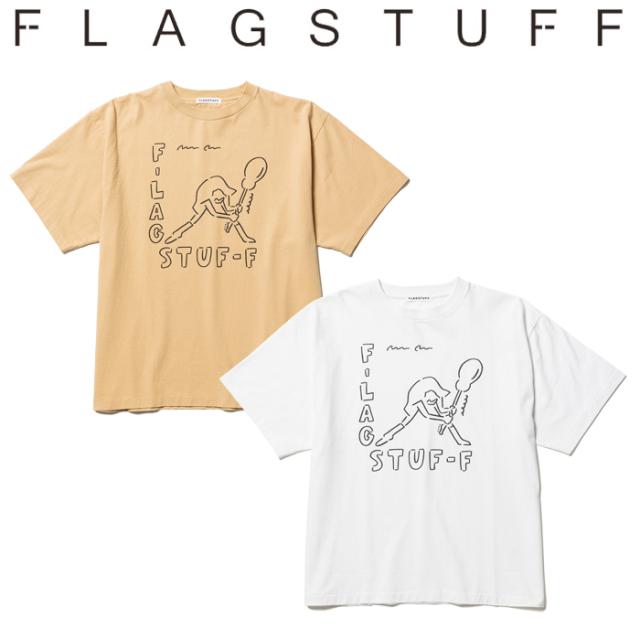 F-LAGSTUF-F(フラグスタフ) S/S TEE 【Tシャツ 半袖】【長場雄 コラボレーション】【21AW-FSxYUNAGABA-02】【F-LAGSTUF-F】【FLAGS