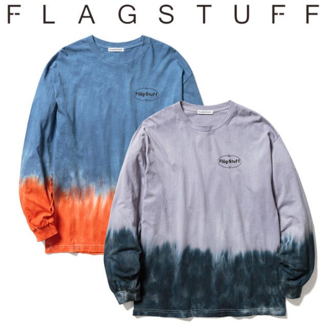 F-LAGSTUF-F(フラグスタフ) TIE DYE L/S Tee 【タイダイ ロンT Tシャツ 長袖】【21SS-FS-24】【F-LAGSTUF-F】【FLAGSTUFF】 【フ