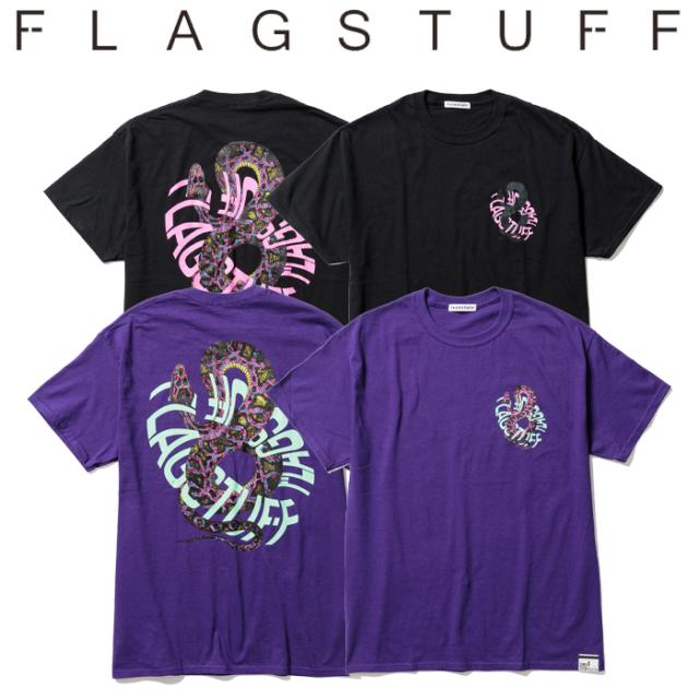 """F-LAGSTUF-F(フラグスタフ) """"SNAKE Circle"""" TEE 【Tシャツ 半袖】【21SS-FS-57】【F-LAGSTUF-F】【FLAGSTUFF】 【フラグスタフ】"""
