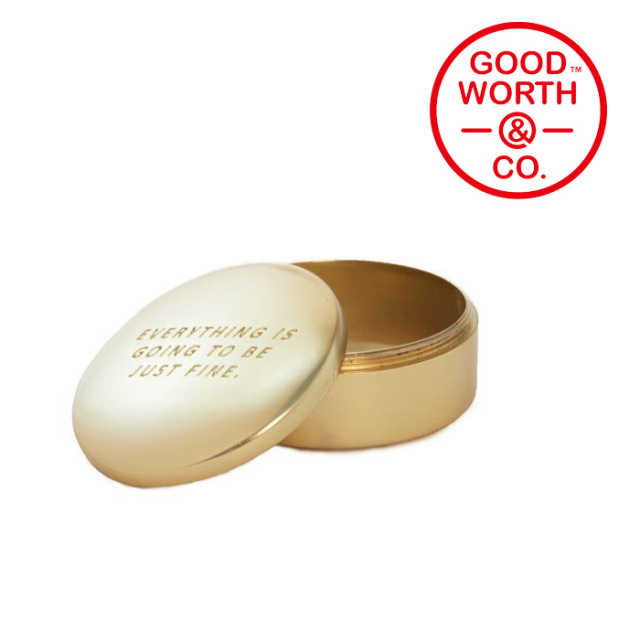 GOOD WORTH(グッドワース) & CO. BRASS STASH CASE 【2019SUMMER COLLECTION】
