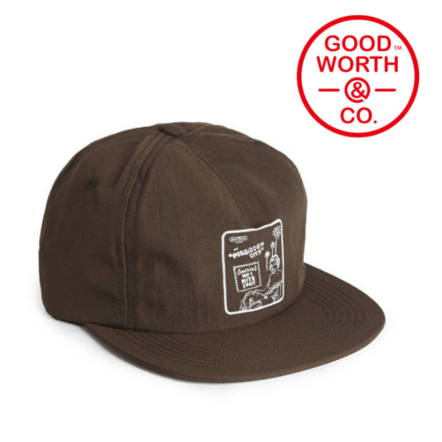 GOOD WORTH(グッドワース) & CO. Forbidden City 5 Panel Snapback 【2019SUMMER COLLECTION】