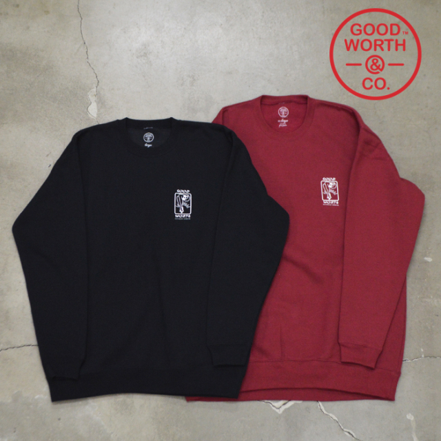 GOOD WORTH(グッドワース) & CO LEG CREW NECK SWEATSHIRT 【2020HOLIDAY COLLECTION】【クルーネック スウェット】