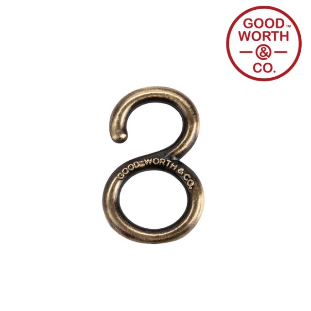 GOOD WORTH (グッドワース) & CO.   Mini Brass Hook 【2020 HOLIDAY】【ブラス キーホルダー】