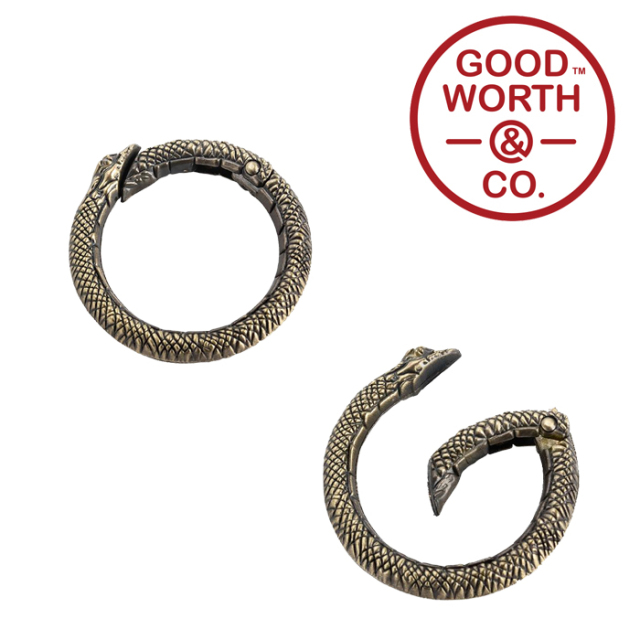 GOOD WORTH (グッドワース) & CO.   Snake Carabiner 【2020 HOLIDAY】【スネーク カラビナ】