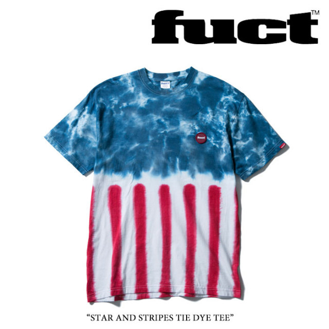 FUCT(ファクト) STAR AND STRIPES TIE DYE TEE 【FUCT Tシャツ】 【48601】 【即発送可能】