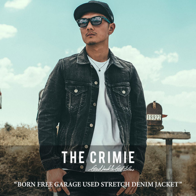 CRIMIE(クライミー) BORN FREE GARAGE USED STRETCH DENIM JACKET 【2018SPRING/SUMMER先行予約】 【送料無料】【キャンセル不可