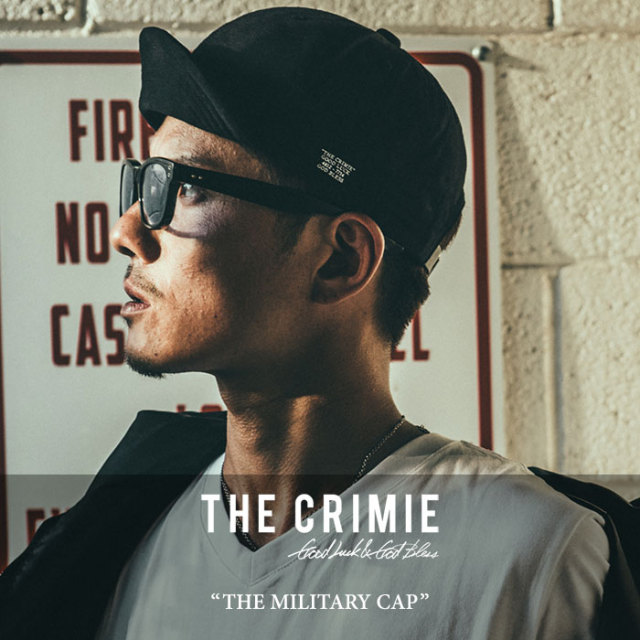 CRIMIE(クライミー) THE MILITARY CAP 【2018SPRING/SUMMER新作】 【即発送可能】 【C1H1-CXCP-AM01】 【CRIMIE キャップ】