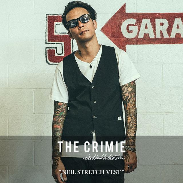CRIMIE(クライミー) NEIL STRETCH VEST 【2018SPRING/SUMMER先行予約】 【送料無料】【キャンセル不可】 【C1H1-CXNL-JK02】 【