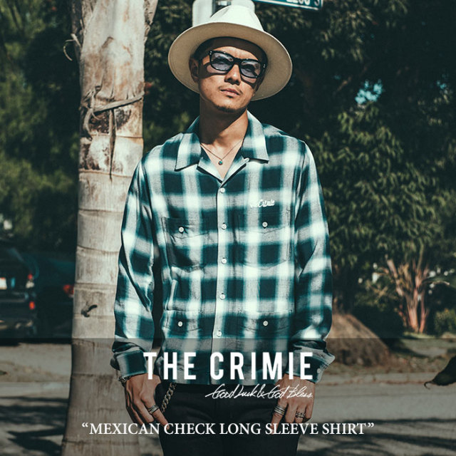 【SALE 50%OFF】 CRIMIE(クライミー) MEXICAN CHECK LONG SLEEVE SHIRT 【2018SPRING/SUMMER新作】【C1H1-SH03】 【シャツ】