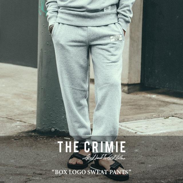【SALE 50%OFF】 CRIMIE(クライミー) BOX LOGO SWEAT PANTS 【2018SPRING/SUMMER新作】【C1H1-SW21】 【スウェット パンツ】