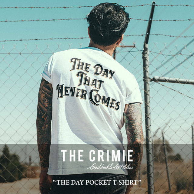 【SALE】 CRIMIE(クライミー) THE DAY POCKET T-SHIRT 【2018SPRING/SUMMER新作】 【即発送可能】 【C1H1-TE02】 【CRIMIE Tシ