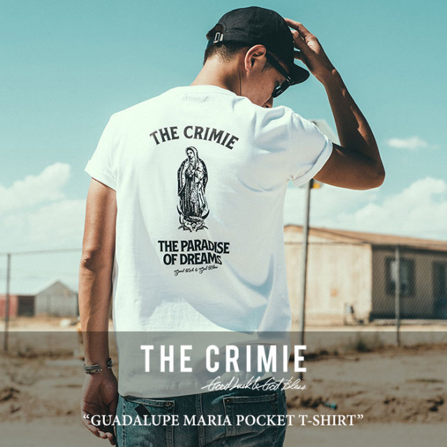 CRIMIE(クライミー) GUADALUPE MARIA POCKET T-SHIRT 【2018SPRING/SUMMER新作】 【即発送可能】 【C1H1-TE03】 【CRIMIE Tシャ